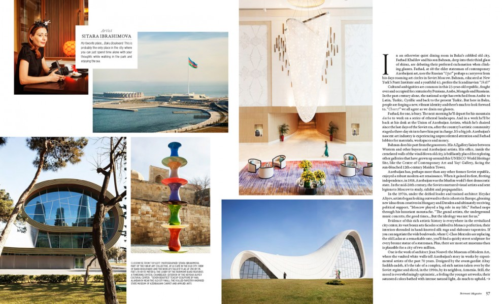 Artist in Baku, Fairmont Magazine