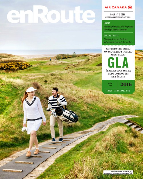 Enroute Magazine, Golf in Scotland.