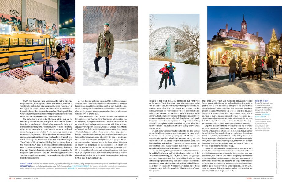 Enroute Magazine, Winter in Montreal