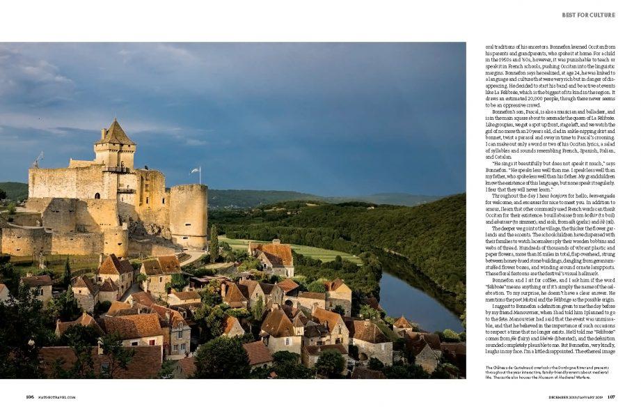National Geographic Traveler US. Dordogne, France