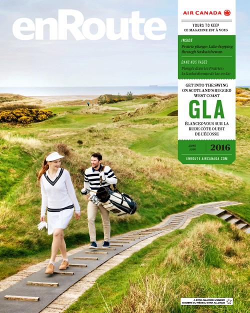 Enroute Magazine, Golf in Scotland.